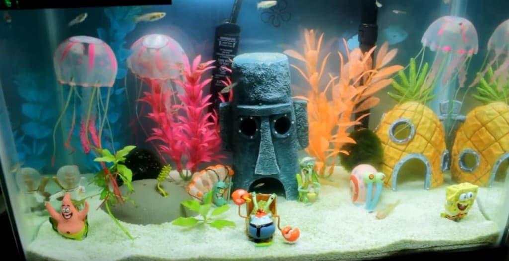 The never ending debate of real aquarium plants vs fake for Fake artificial aquarium fish tank